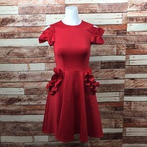 63e095f4fb32d7 Ted Baker London Dresses - Ted Baker Red Deneese Ruffle Detail Dress